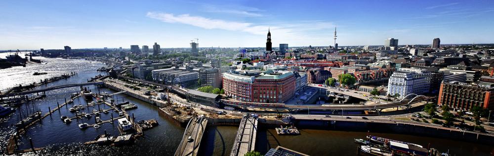 Hamburgpanorama in nordwestliche Richtung